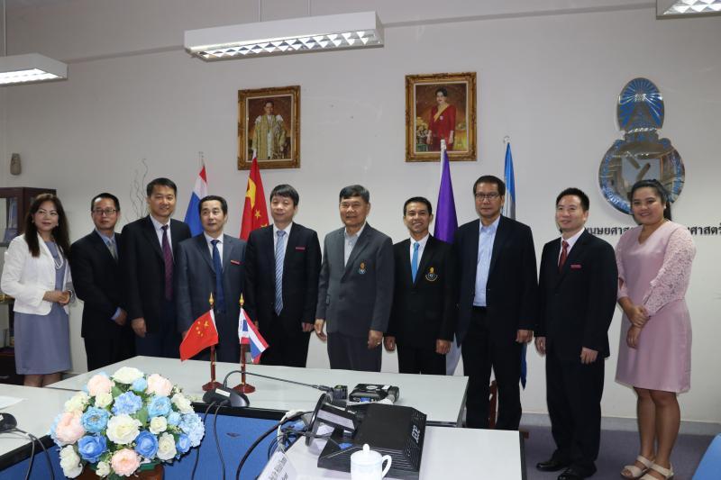 คณะมนุษยศาสตร์และสังคมศาสตร์ มหาวิทยาลัยทักษิณ ต้อนรับคณะผู้บริหารจาก Guangxi Normal University สาธารณรัฐประชาชนจีน