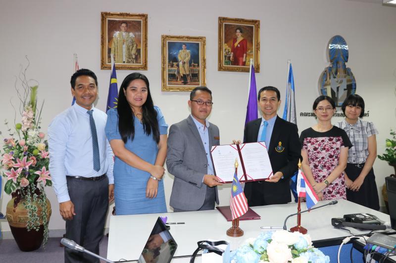 คณะมนุษยศาสตร์และสังคมศาสตร์ มหาวิทยาลัยทักษิณ ต้อนรับผู้แทนจาก The Ritz-Carlton, Langkawi ประเทศมาเลเซีย