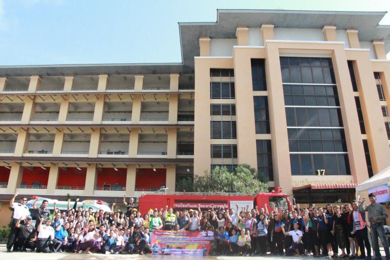 มหาวิทยาลัยทักษิณ วิทยาเขตสงขลา จัดโครงการซ้อมแผนปฏิบัติการป้องกันและแก้ไขปัญหาอัคคีภัย อุทกภัย และวาตภัย มหาวิทยาลัยทักษิณ วิทยาเขตสงขลา ปีการศึกษา 2562