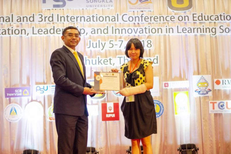 อาจารย์คณะมนุษยศาสตร์และสังคมศาสตร์ ได้รับรางวัลจากการนำเสนอผลงานวิจัย ในการประชุมวิชาการระดับชาติ ครั้งที่ 5 และนานาชาติ ครั้งที่ 3 The 5th National and 3rd International Conference on Education 2018 (NICE)